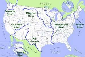 US Map, United States Map, USA River Map, Map of USA, US Cellular Map, USA Temperature Map, Map of United States