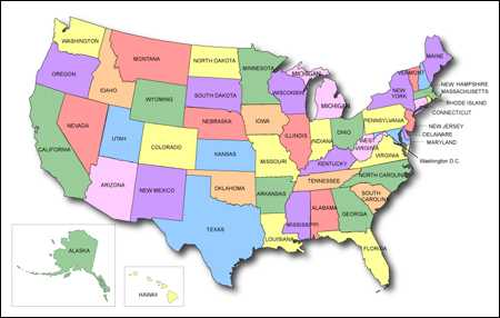 Free United States Of America Map United States Maps - United state of america map
