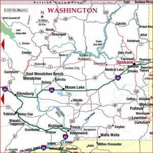 washington road map, road map of washington
