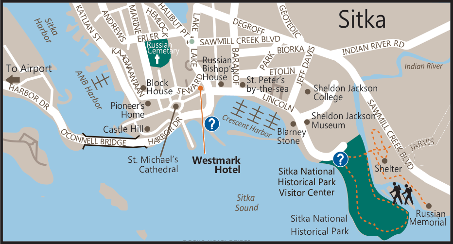 map of Sitka alaska