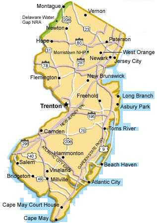 Map Of New Jersey State Map Of USA United States Maps - New jersery map