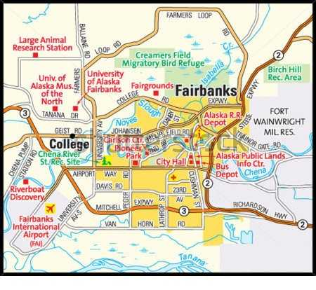 map of Fairbanks alaska