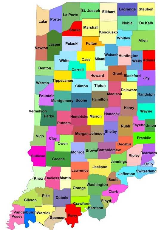 Indiana State Map With Cities And Towns.Map Of Indiana State Map Of Usa United States Maps